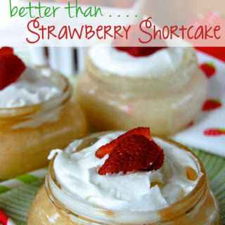 Mason Jar Poke Cake {Better Than . . . Strawberry Shortcake}