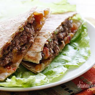 Skinny Buffalo Burger Quesadilla.