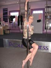 Photo: Iris Aged 72yrs doing vertical pole gymnastics - Traditional Arm Crossed Triangle Leg Line #polefitnessstudios
