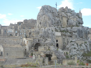 Photo: Dwellings built into the rocks.