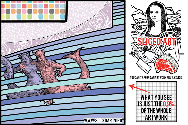Photo: Only a BIG patron can order an HUGE artwork? No. How? You can sell an artwork by the slice. Coming soon www.slicedart.org