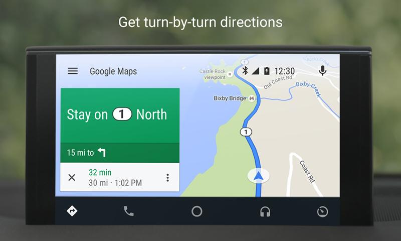 Android Auto: captura de pantalla