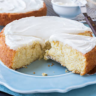 Sweet Cornbread Cake with Salted Honey Butter Frosting.