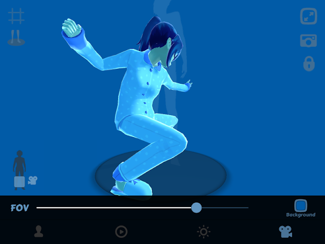Anime Girl Pose 3D Screenshot