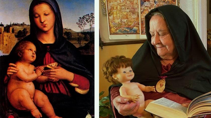 Obra recreadade \'La Virgen con el niño\', de Rafael.