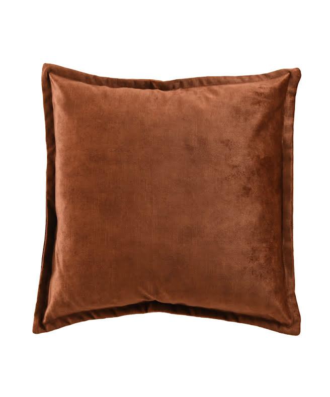 Kuddfodral sammet i bronze färg