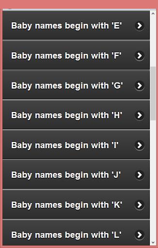 Muslim Child  Names (A-Z) 1.0 screenshots 3