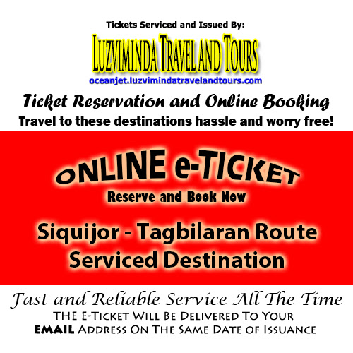 OceanJet Larena, Siquijor-Tagbilaran Route Ticket Reservation and Online Booking