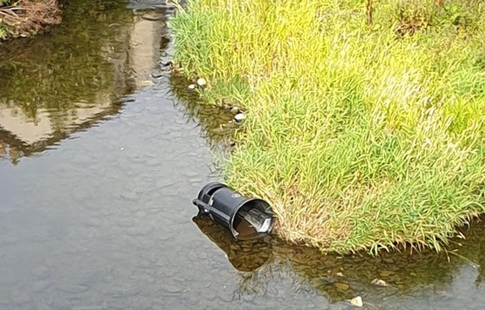 More litter bins thrown into the town's river