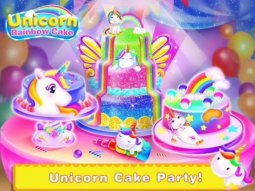Cooking Unicorn Rainbow Cake- Food Game for girl 1.7 Screenshots 1