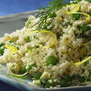 Whole-Wheat Couscous with Parmesan & Peas