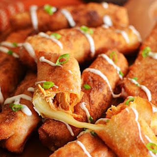 Buffalo Chicken Mozzarella Logs.