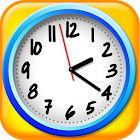 clock game for kids icon