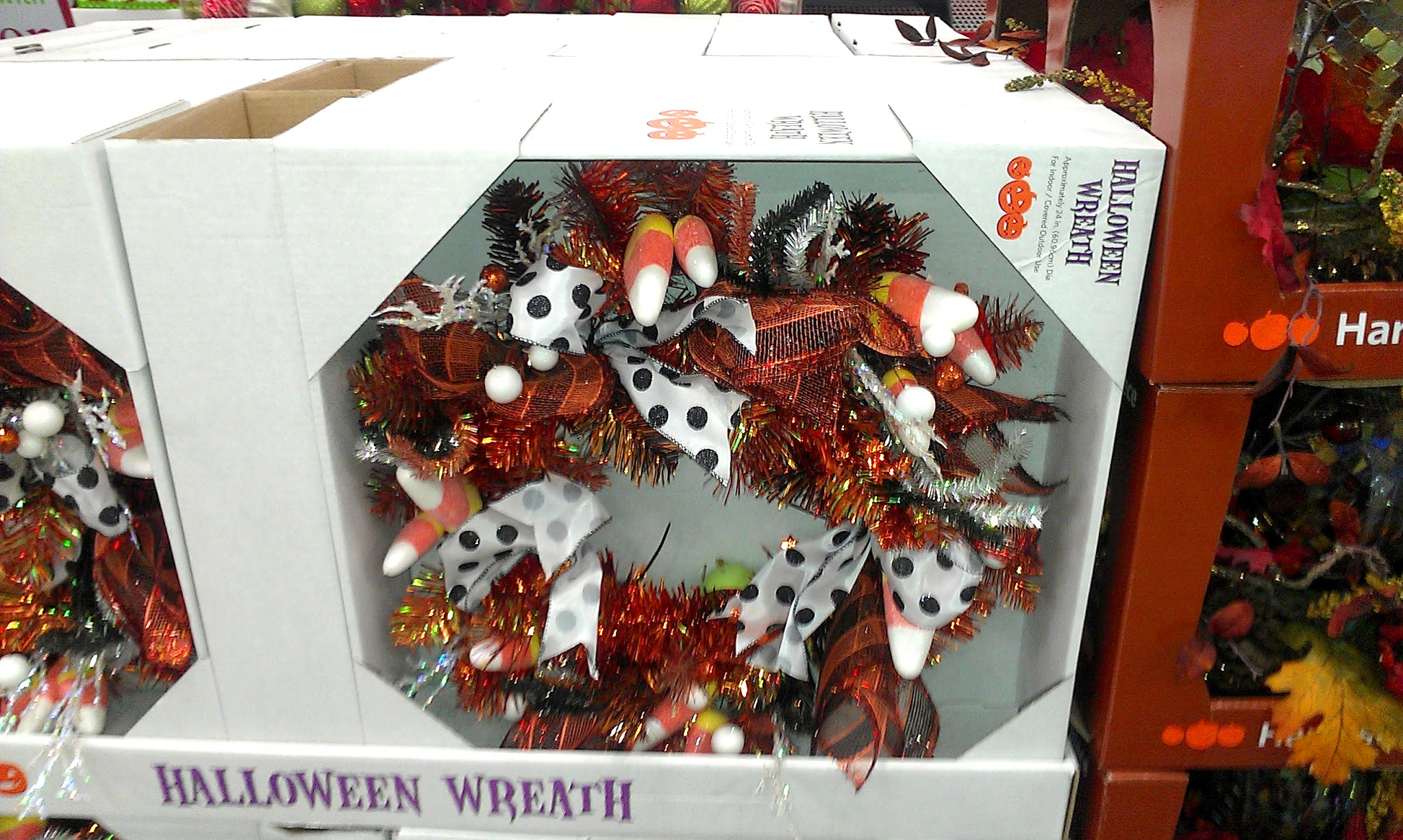 Photo: I have a friend who makes Halloween wreaths, but they are more icky than this. I think this one is fun!