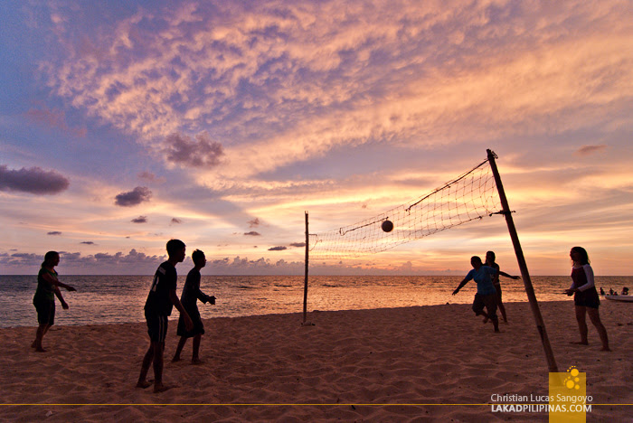 Patar White Beach Bolinao Sunset Volleyball