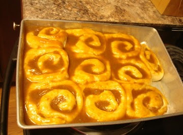Apple Rolls With Caramel Topping Recipe