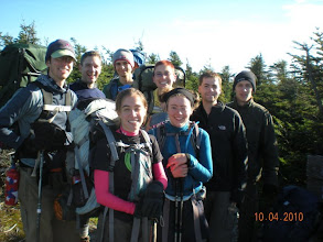 Photo: Near the top of Mt. Mansfield, backpacking trip on the Long Trail, Vermont