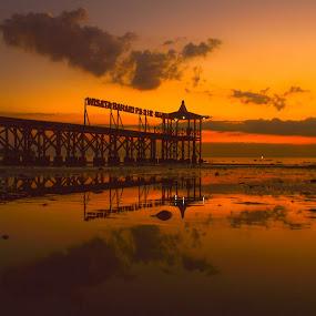 Sunset at Pasir Putih Situbondo Beach by Shohibul Huda - Landscapes Sunsets & Sunrises ( indonesia, sunset, beautiful, beach, sunrise, landscape )