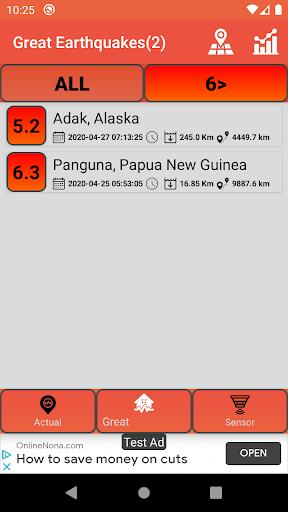 Last Earthquakes(Notification) screenshot 2