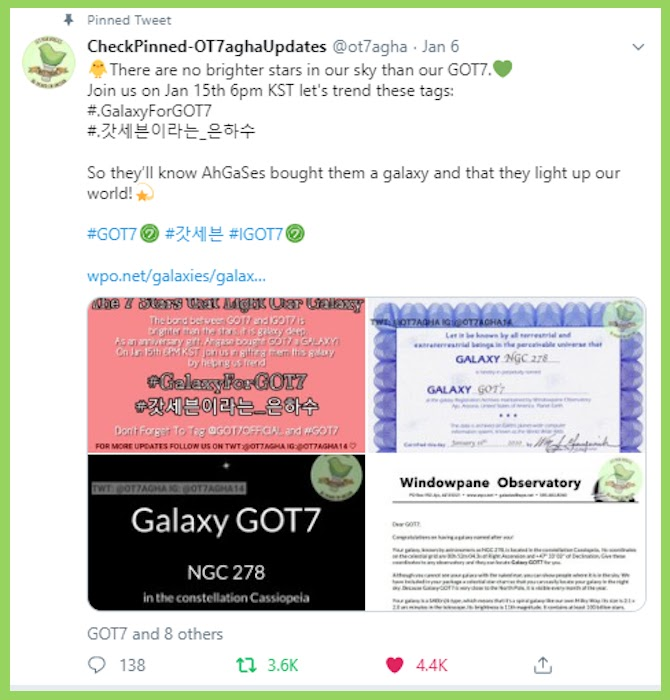 galaxy tweet