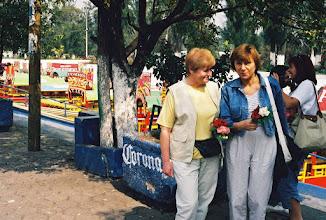 Photo: 1B080010 Meksyk - Xochimilco – park wodny kwiatów – przy wejściu zostaliśmy nimi obdarowani