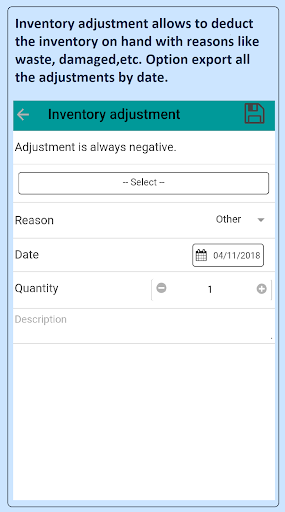 Smart inventory management with Point of sale 4.3.2 screenshots 8