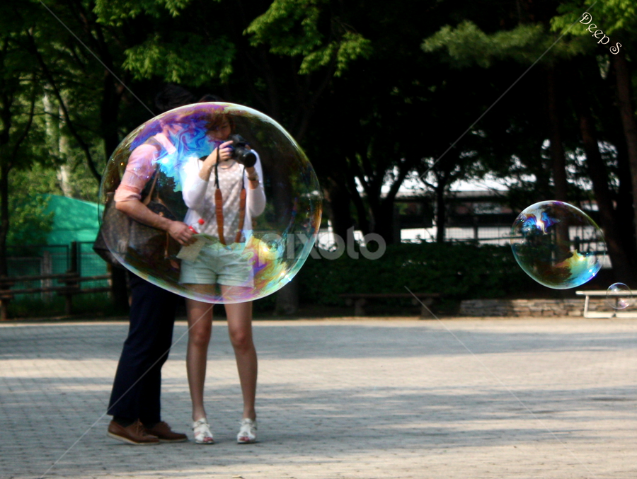 Thru the Bubble by Deepak Sharma - Novices Only Street & Candid ( bubble, pair, though,  )