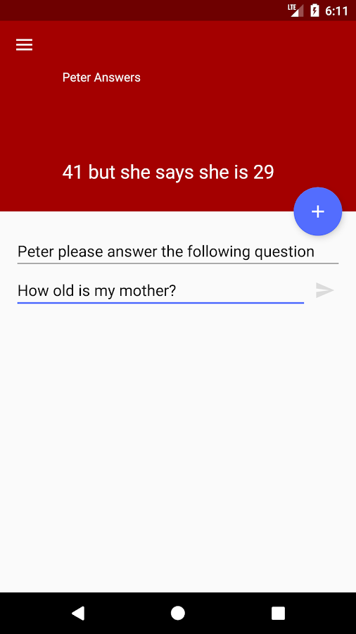 Peter Answers- screenshot