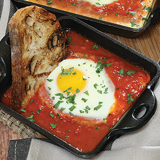 Saucy Baked Eggs.