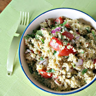 Quinoa and Avocado Salad.