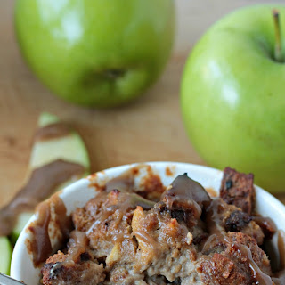 Apple Cinnamon Bread Pudding with Salted Caramel Sauce