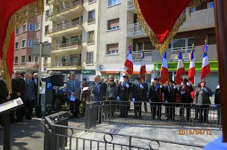 Photo: Allocution de Miguel VERA, Président de la Résistance Espagnole en Haute-Savoie.
