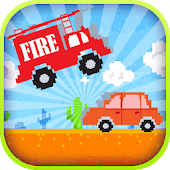 Crazy Jumpy Fire Truck Racing