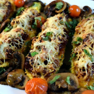 Low Carb Italian Sausage Zucchini Boats.