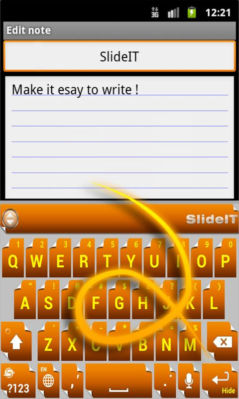 Скриншот SlideIT Flip Page Skin