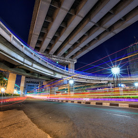 Cars and Interchange by Hiram Abanil - Buildings & Architecture Bridges & Suspended Structures