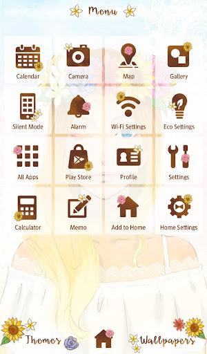 Sunflower Girl +HOME Theme 1.0.0 Windows u7528 2