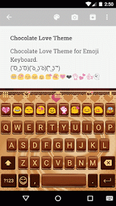 Chocolate Love Emoji Keyboard screenshot 0