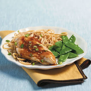 Seared Chicken With Scallion-Ginger Sauce.