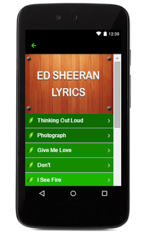 android Ed Sheeran Music Lyrics Screenshot 4