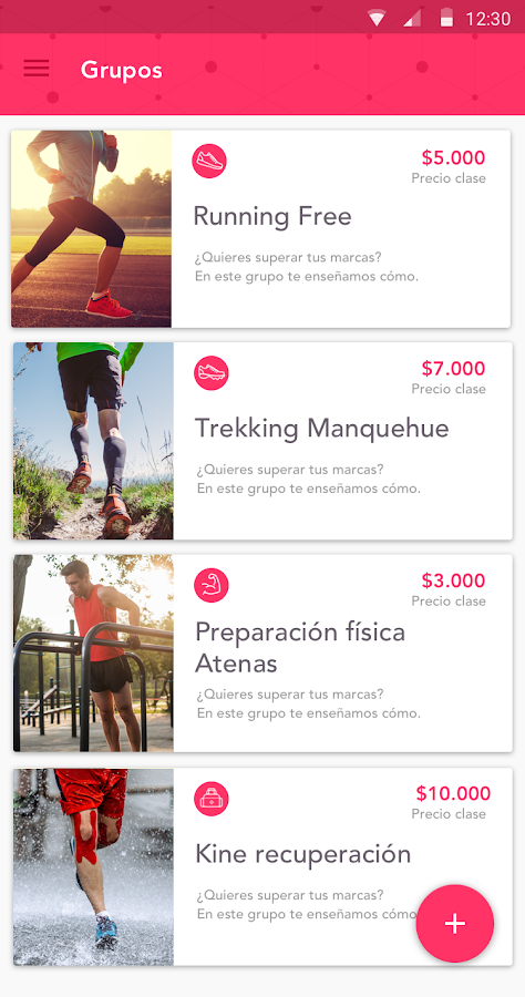 Befitness Coach: captura de pantalla