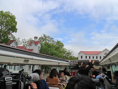 ウィラー(網走バス)「レストランバス2018」 8888 試乗会 発車前ルーフ開放