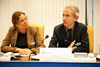 Photo: Néphèli Yatropoulos, Adviser to the French Defender of Rights on European and International issues, Equinet Executive Board Member Andreas Stein, Head of Unit, European Commission DG Justice Equal Treatment Legislation D.1