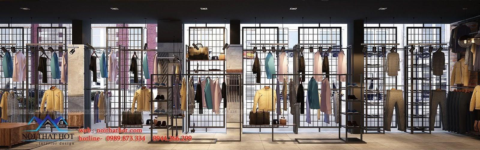 thiết kế shop thời trang nam H2T 9
