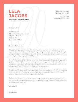 Lela Jacobs - Cover Letter item