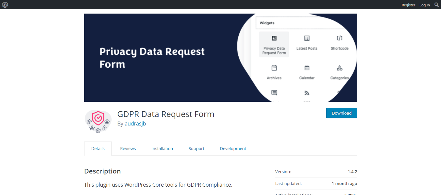 GDPR Data Request Form