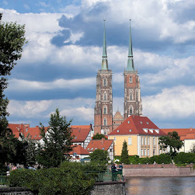 Wroclaw's cathedral by Aleksander Cierpisz - City,  Street & Park  Historic Districts