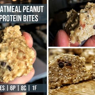 No Bake Oatmeal Peanut Butter Protein Bites Recipe