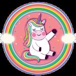 Rainbow Unicorn Anime Launcher Icon