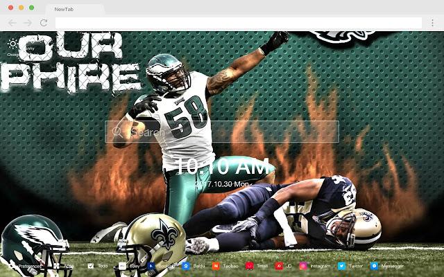 Philadelphia Eagles New Tab HD Themes